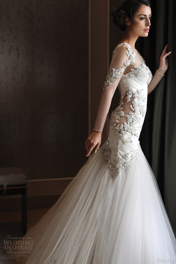 Orkalia couture fall 2014 collection wedding inspirasi for Long sleeve dresses to wear to a wedding