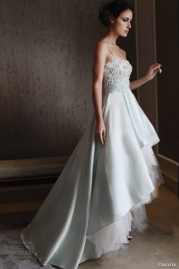 orkalia fall 2014 couture wedding dress with straps