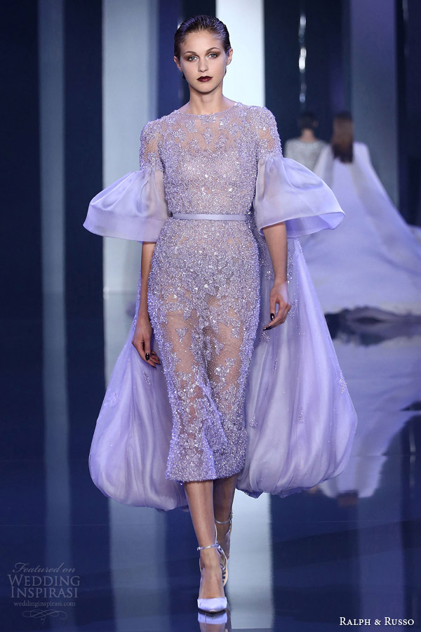 ralph russo fall winter 2014 2015 look 14 lilac haute couture dress
