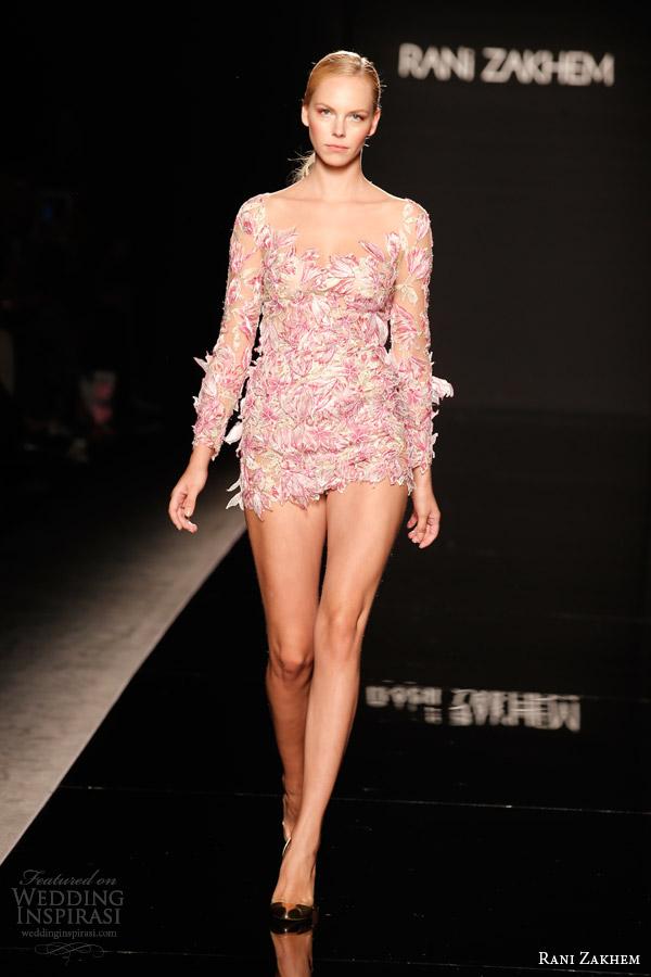 rani zakhem couture fall 2014 look 1 short dress