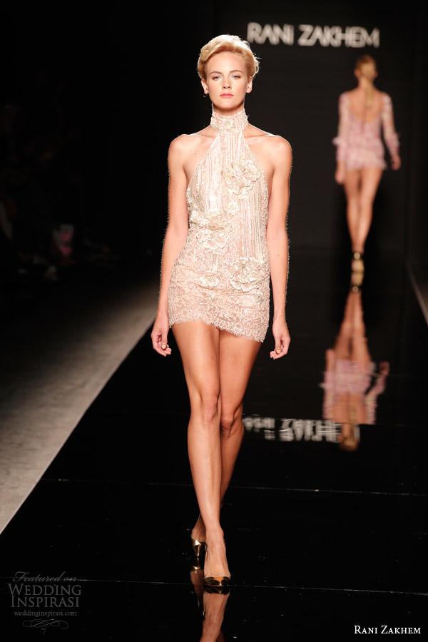 rani zakhem couture fall 2014 look 2 short dress