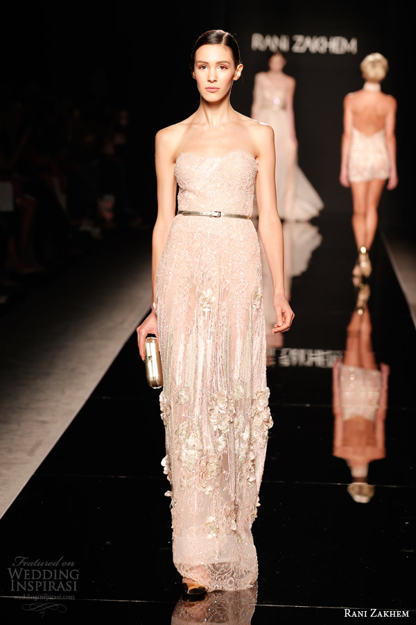 rani zakhem couture fall 2014 look 3 strapless gown