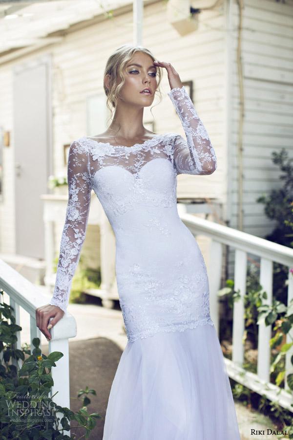 riki dalal 2015 provence long sleeve wedding dress 1503