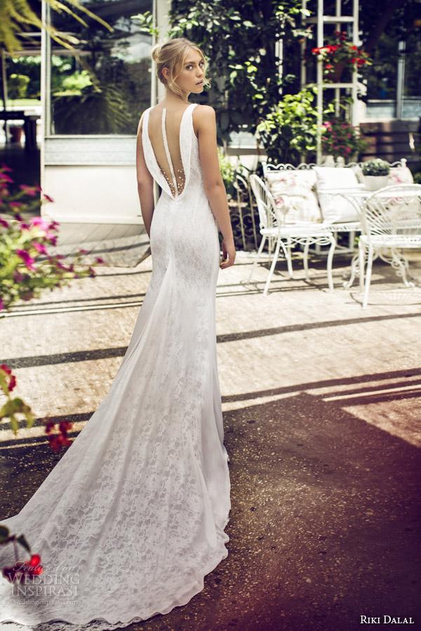 riki dalal 2015 scent of provence sleeveless sheath wedding dress v neck illusion back