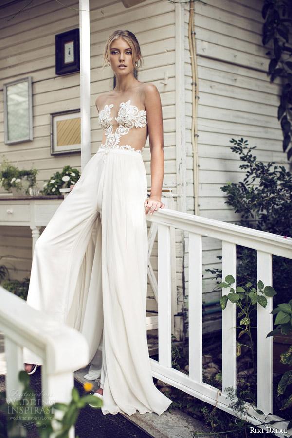 riki dalal bridal 2015 sexy wedding dress pants