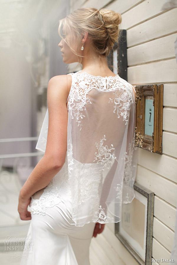 riki dalal bridal 2015 sleeveless wedding dress 1511 back view