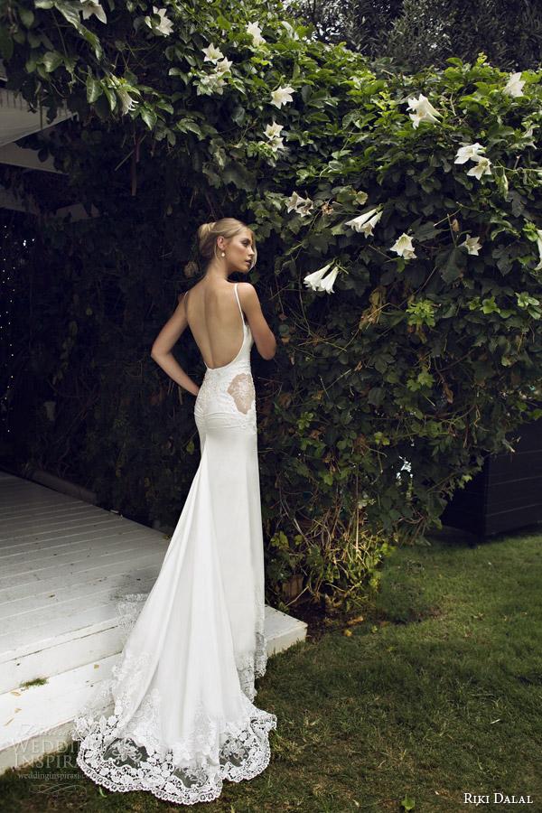 riki dalal bridal 2015 wedding dress straps 1511 back view