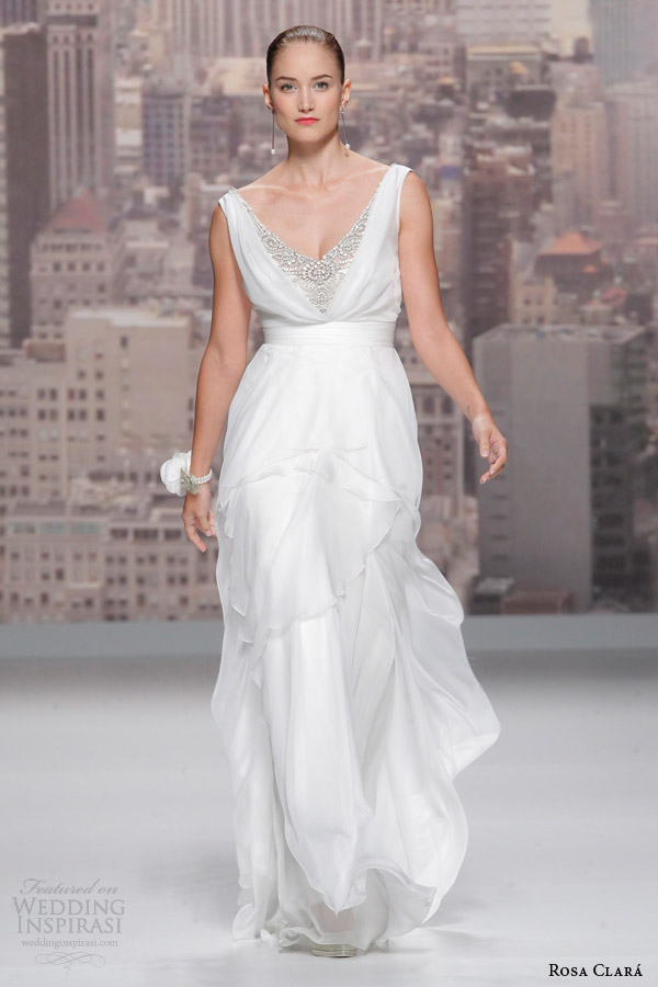 rosa clara 2015 runway sofia sleeveless wedding dress
