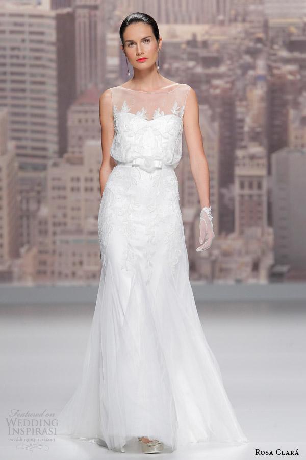 Illusion Neck Wedding Dress 28 Inspirational rosa clara wedding dress