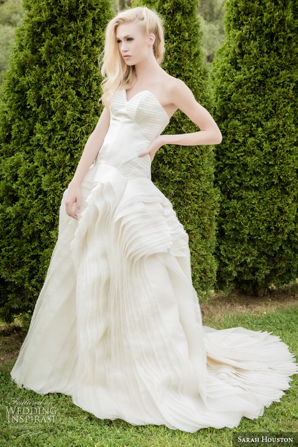 Sarah Houston 2015 Bridal Collection Strapless Sweetheart Ball Gown Wedding  Dress Romance