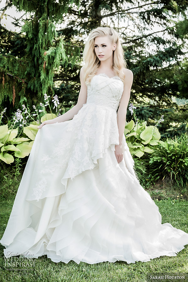 Sarah Houston Spring 2015 Wedding Dresses