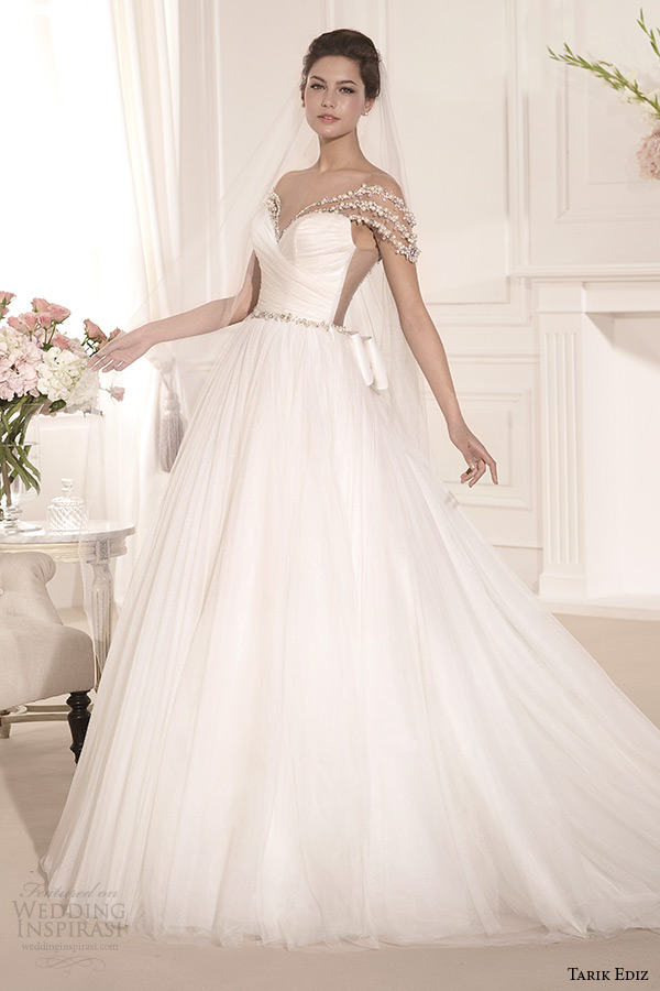 tarik ediz 2014 bridal collection off the shoulder sweetheart a line wedding dress inci