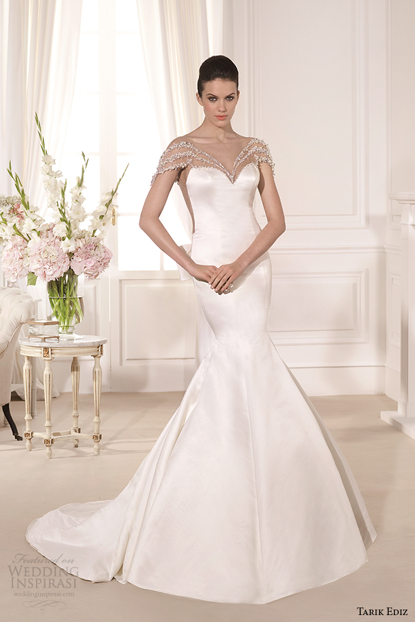 tarik ediz 2014 bridal collection sweetheart trumpet wedding dress 1 barbara g1108