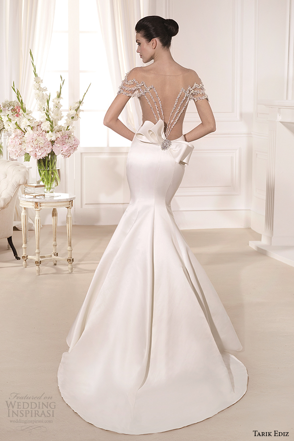 tarik ediz 2014 bridal collection sweetheart trumpet wedding dress back view barbara g1108