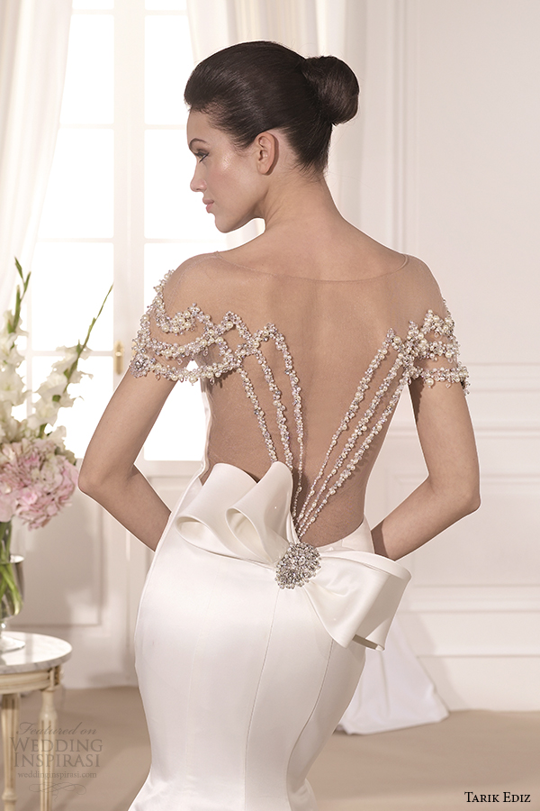 tarik ediz 2014 bridal collection sweetheart trumpet wedding dress back view zoom barbara g1108