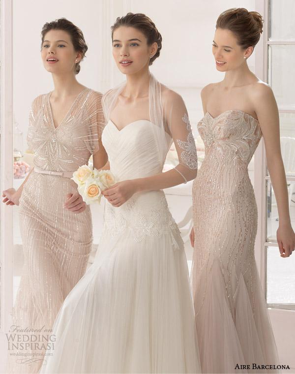aire barcelona bridal 2015 abel casaco vestido de noiva Shee
