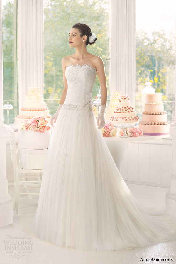 aire barcelona bridal 2015 acacia strapless wedding dress
