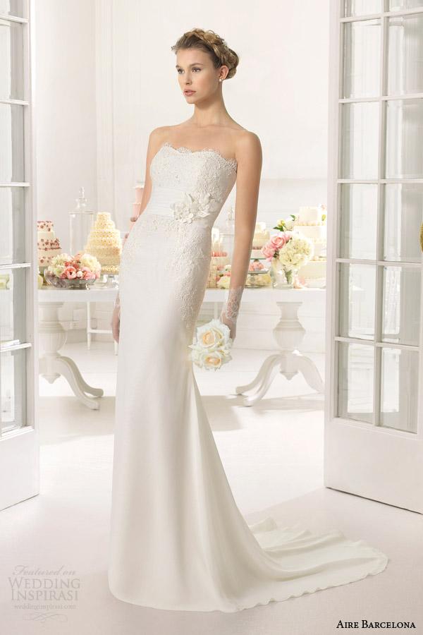 aire barcelona bridal vestido de noiva 2015 áfrica strapless