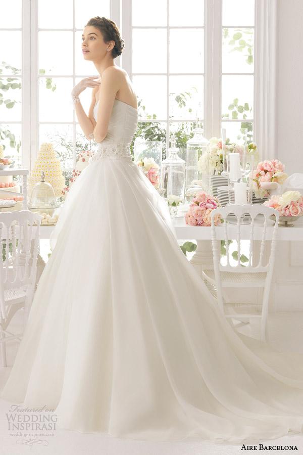 aire barcelona bridal 2015 arpa vestido de casamento vestido de baile sem alças
