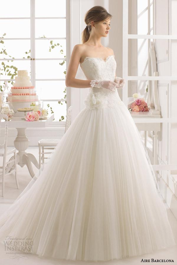 aire barcelona bridal 2015 atena sem alças do vestido de casamento de sonho