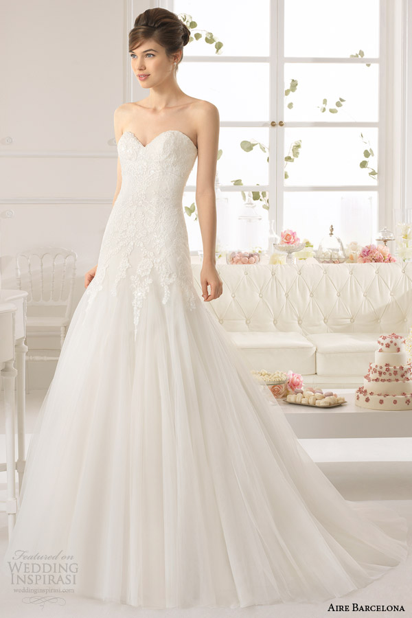 aire barcelona vestido de noiva 2015 azteca vestido sem alças