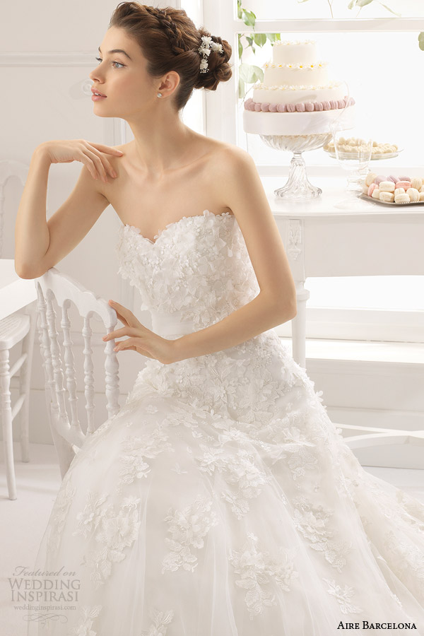aire barcelona vestidos de noiva 2015 vestido strapless Austrália