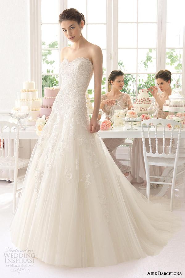 aire barcelona vestidos de noiva 2015 Azad vestido sem alças