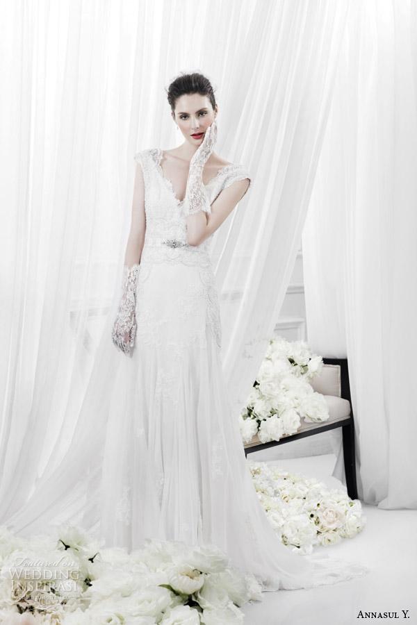 annasul y 2015 bridal romantic lace cap sleeve wedding dress ay2897b