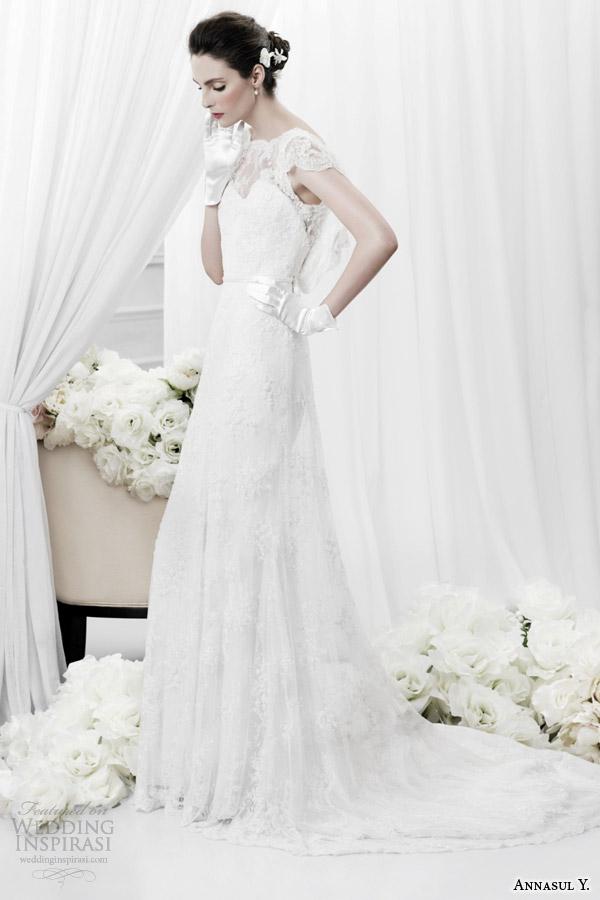 annasul y 2015 bridal scalloped lace cap sleeve wedding dress ay2896b