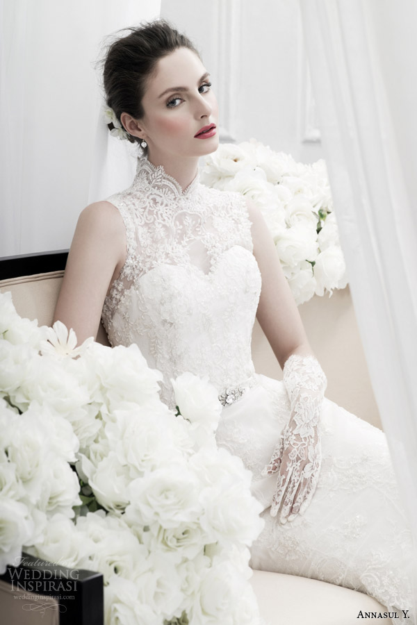 Annasul y 2015 wedding dresses wedding inspirasi for High collared wedding dress