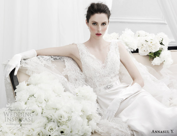 annasul y wedding dresses 2015 sleeveless lace bridal gown ay2998b
