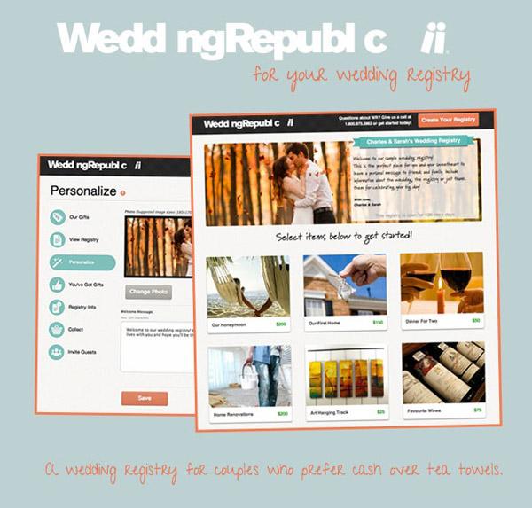 Online Wedding Registry.Wedding Republic A Registry As Unique As You Are Sponsor
