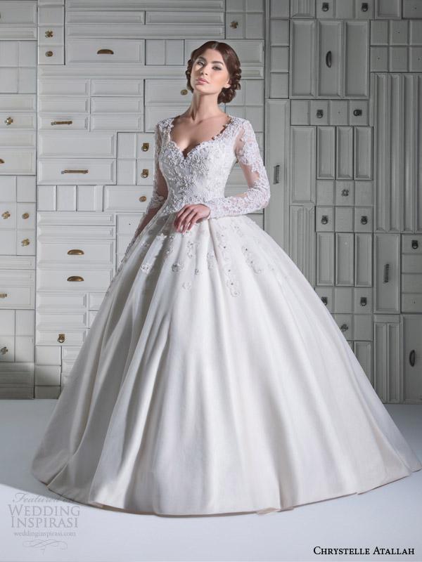 36dfd0f0d chrystelle atallah bridal spring 2014 long sleeve ball gown wedding dress