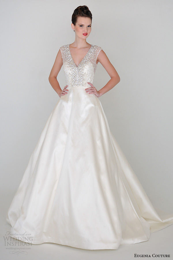 eugenia primavera 2015 Coleção de Alta Costura Pescoço v Baixa de Volta a alexandra Vestido de noiva Linha 3934