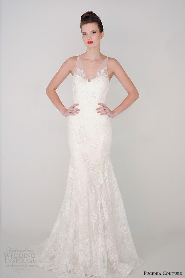 eugenia primavera 2015 Coleção de Alta Costura v Pescoço pura cinta Vestido de noiva bainha aria 3926