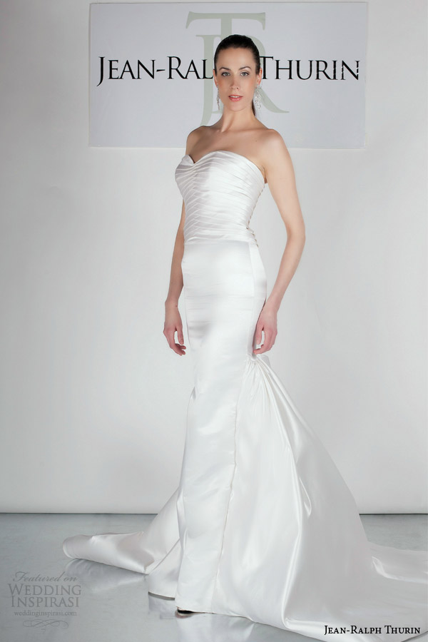 jean ralph thurin bridal spring 2015 jadyn strapless wedding dress