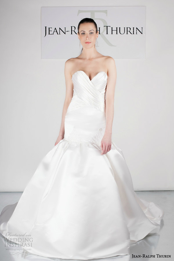 jean ralph thurin bridal spring 2015 jalena strapless wedding dress
