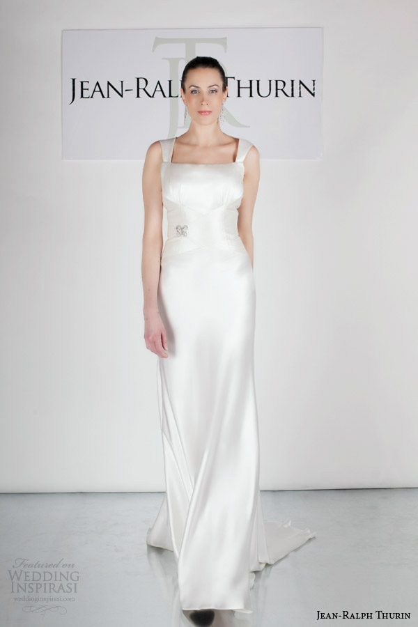 jean ralph thurin bridal spring 2015 jeneva wedding dress with straps