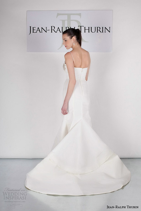 jean ralph thurin bridal spring 2015 jovia mermaid wedding dress straps back view train