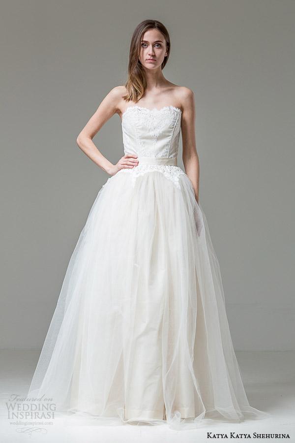 katya katya shehurina clara strapless ball gown wedding dress 1
