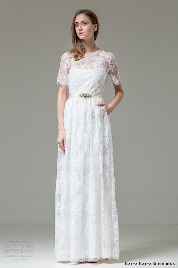 katya katya shehurina ilaria illusion neckline short sleeve wedding dress 1