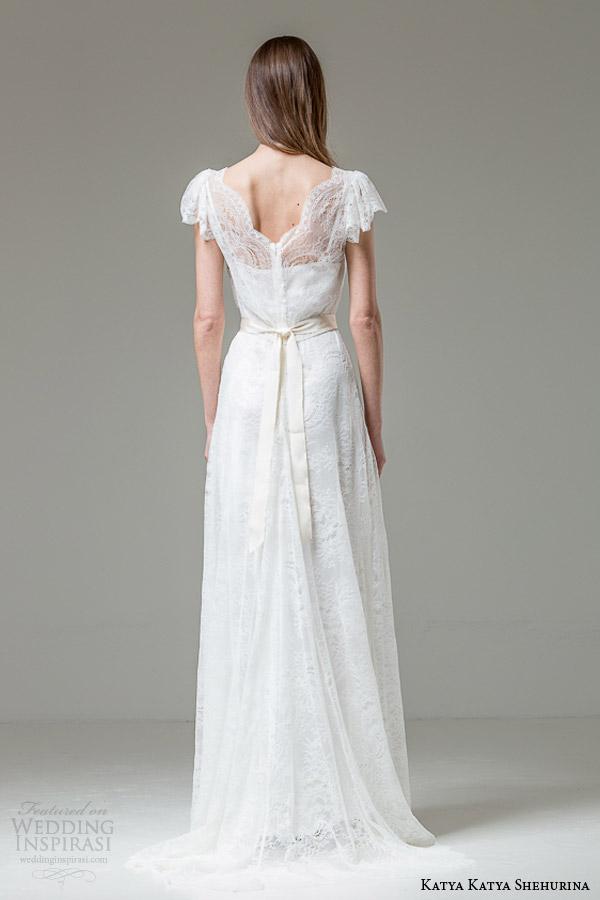 katya katya shehurina wedding dresses 2015 vitalia short fluter sleeve lace gown 2 back