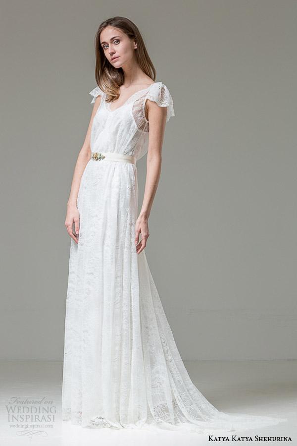 katya katya shehurina wedding dresses 2015 vitalia short fluter sleeve lace gown