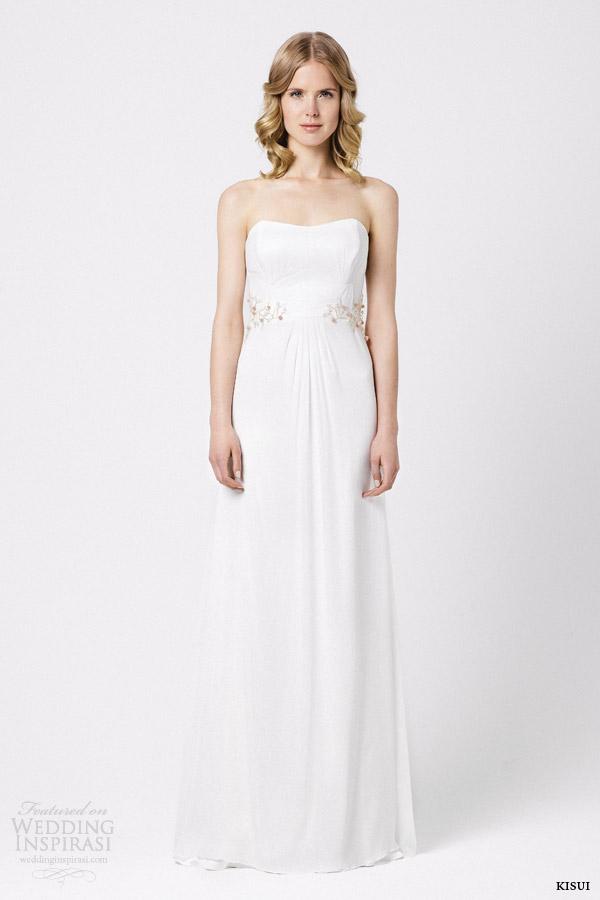 kisui brautmode 2015 strapless wedding dress