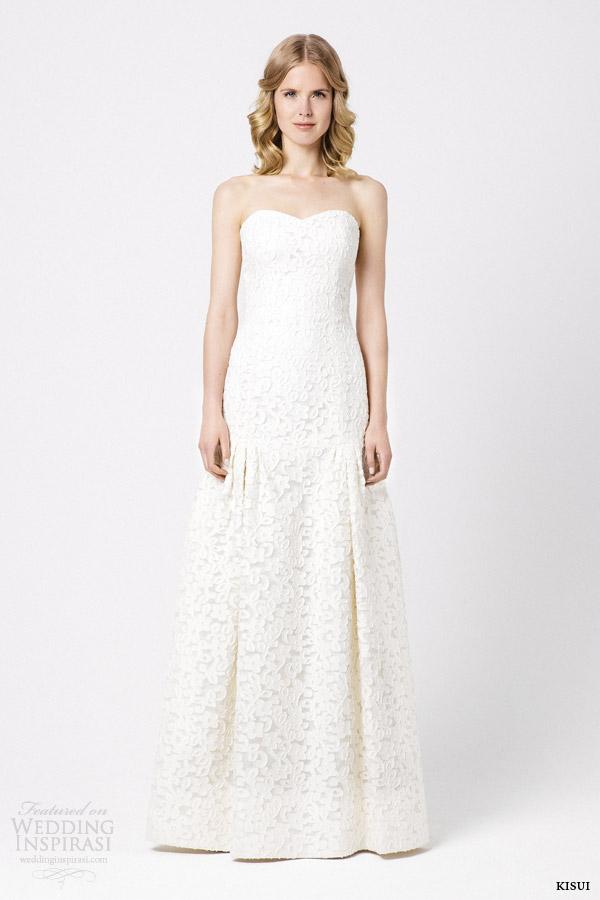 kisui bridal 2015 alivia strapless wedding dress