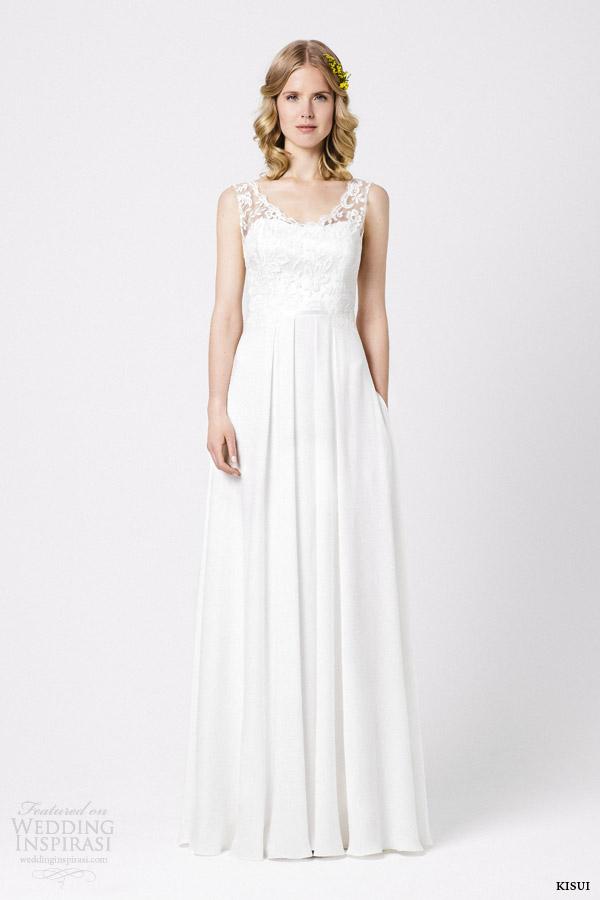 kisui bridal 2015 azelia sleeveless wedding dress