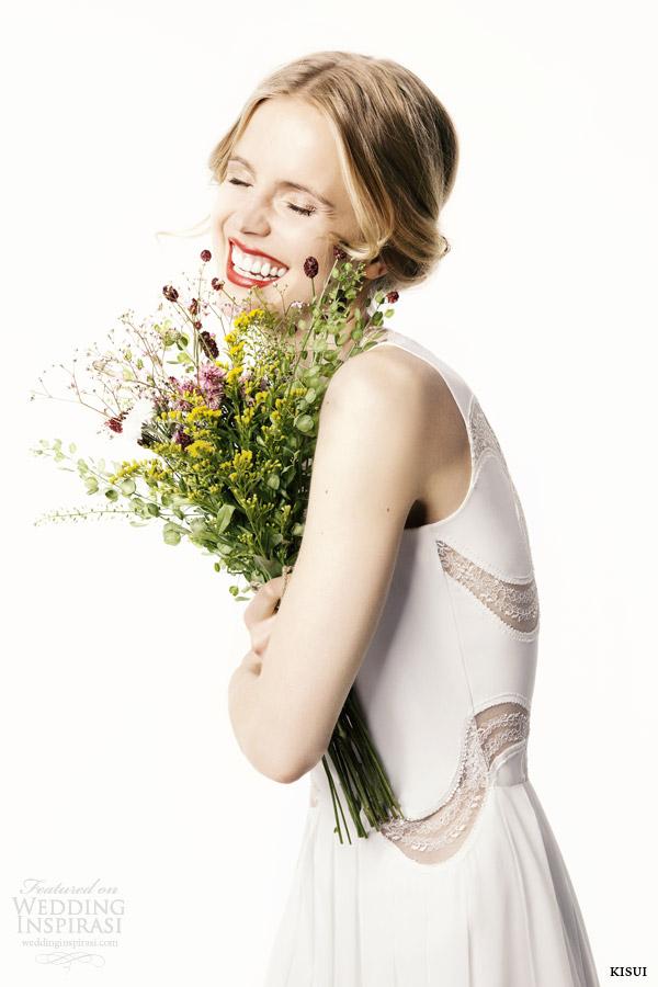 kisui bridal 2015 bryony sleeveless wedding dress side view close up