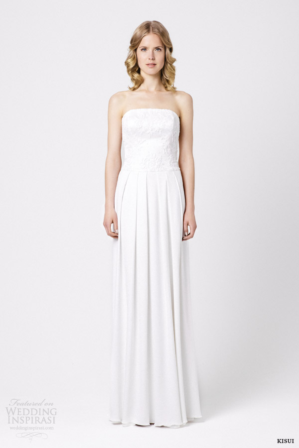kisui bridal 2015 calla strapless wedding dress