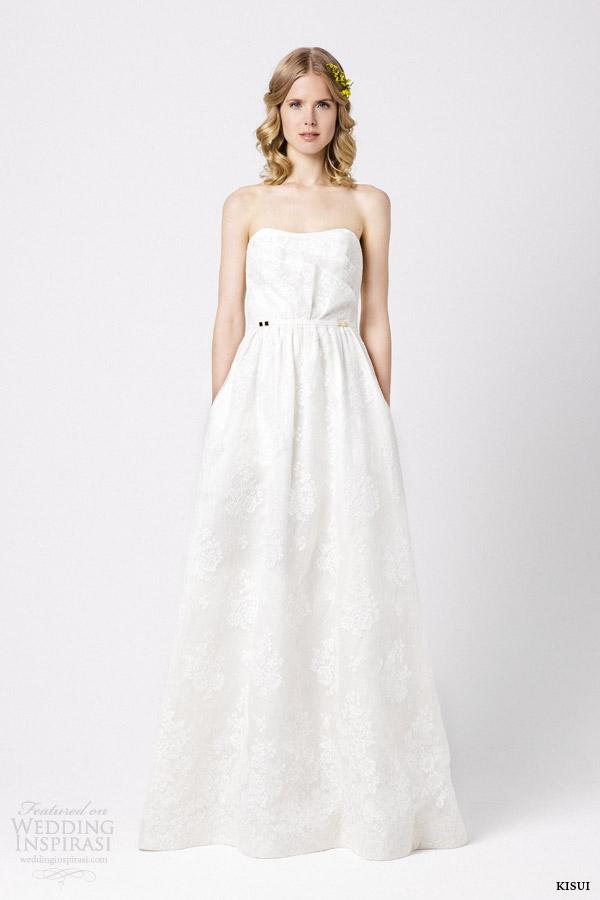 kisui bridal 2015 coeur de marie strapless wedding dress