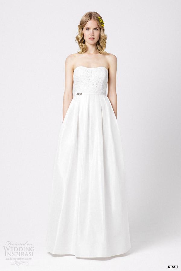 kisui bridal 2015 hana strapless wedding dress